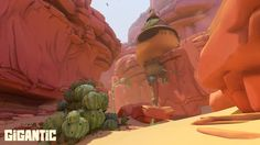 Gigantic's rugged Canyon battleground is full of hiding places for the clever.