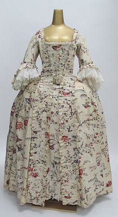 Dress -- 1770-75 -- French -- Cotton -- The Costume Institute at The Metropolitan Museum of Art