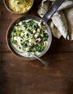 Vihreä pinaatti-tofukastike | K-ruoka #vegaani