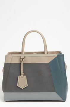 Fendi Geometric 2Jours - Medium Leather Shopper available at #Nordstrom