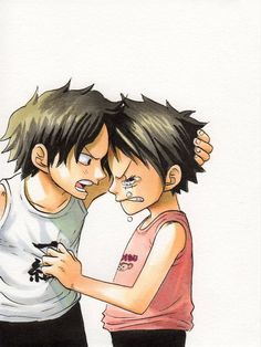 Luffy and Ace