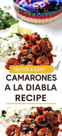 Easy Deviled Shrimp (Camarones a la Diabla) are juicy and really quick to make. Covered in a bright red chile pepper and chipotle sauce that are ready to eat in 30 minutes! (gluten free, low carb, paleo) #shrimp #spicyshrimp Real Mexican Food, Mexican Food Recipes, Ethnic Recipes, Shrimp Recipes, Chicken Recipes, Chipotle Sauce, Spicy Shrimp, Kitchen Recipes, Kitchen Tips