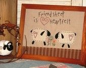 Heartfelt Sheep Stitchery