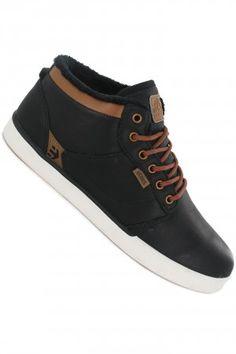 Etnies Jefferson Mid LX SMU Shoe | #skatedeluxe #sk8dlx #skate #schuh #black #brown #trend #leather #leder
