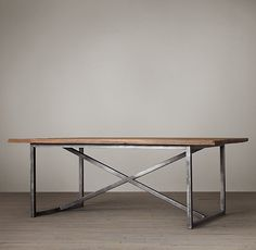 Restoration Hardware : Salvaged Boatwood Dining Tables - Prefer something 80 x 42