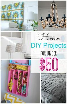 Here are 5 Home DIY Projects Under $50!! Such great ideas! | eBay -- Tatertots and Jello #DIY #spon