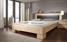 Анна кровать двуспальная, белый воск