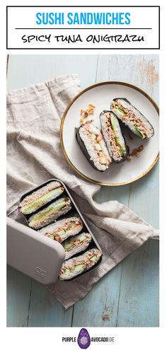 Recipe for Japanese Rice Sandwiches with spicy tuna filling.