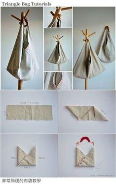 Origami bag fabric ideas for 2019 Fabric Crafts, Sewing Crafts, Sewing Projects, Sewing Ideas, Origami Bag, Origami Hearts, Origami Envelope, Origami Boxes, Origami Bookmark