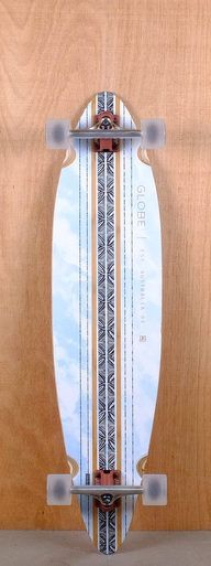 "The Globe Prebuilt 41"" Pinner Bamboo Sky Longboard is designed for carving and cruising."