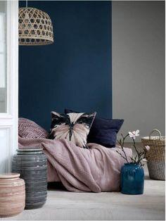 Blue and Gray Bedroom. Blue and Gray Bedroom. 20 Beautiful Blue and Gray Bedroom Designs Blue And Pink Bedroom, Grey Bedroom With Pop Of Color, Pink Bedroom Decor, Gold Bedroom, Queen Bedroom, Pink Room, Bedroom Sets, Master Bedroom, Grey Colour Scheme Bedroom