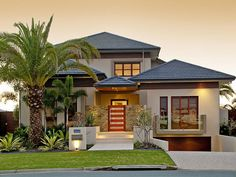 House exterior design bungalow full size of modern house exterior design pictures designs south sample facade ideas in home simple bungalow house exterior Tropical House Design, Tropical Houses, Modern House Design, Modern Tropical House, Kerala House Design, Tropical Interior, Australian Homes, Australian House Plans, Facade House