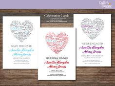 Celebration Printable Customized Cards, Engagement party invitation, save the date card, Rehearsal dinner invitation on Etsy, $17.00