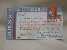 """Vintage Ink Blotter Advertising Colonial Finance Cleveland Ohio 6"""" X 3 1/2"""""""