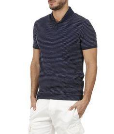 e29de47241ac E-shop Polo Slim-fit En Coton Bleu Ikks pour homme sur Place des tendances  Groupe Printemps. Retrouvez toute la collection Ikks pour homme.