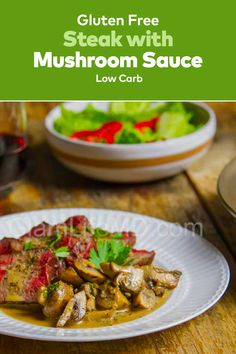 Steak with Mushroom Sauce is perfect addition to your lunch and dinner. Amazingly delicious, beef dinner recipes this homemade steak recipe is just too good for the taste buds! Beef Recipes For Dinner, Delicious Dinner Recipes, Steak Recipes, Mushroom Sauce, Sirloin Steaks, Lunches And Dinners, Taste Buds, Family Meals, Stuffed Mushrooms