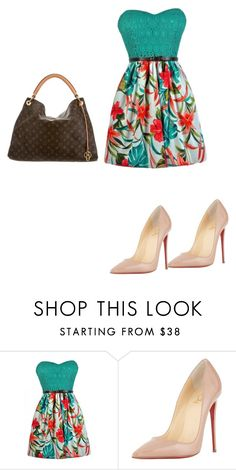 """""""Untitled #600"""" by martinmel-mlm ❤ liked on Polyvore featuring Christian Louboutin and Louis Vuitton"""