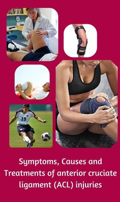 Symptoms, Causes and Treatments of anterior cruciate ligament (ACL) injuries Anterior Cruciate Ligament, Ligament Injury, Acl Tear, Health Tips, Healthy Lifestyle Tips