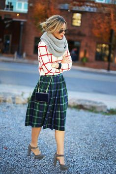 spring trend long length skirt outfit