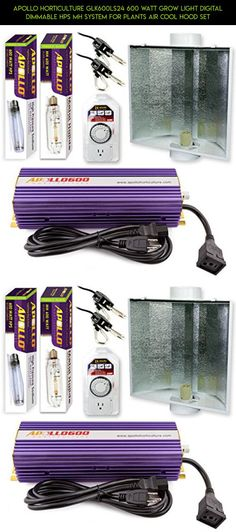 Apollo Horticulture GLK600LS24 600 Watt Grow Light Digital Dimmable HPS MH System for Plants Air Cool Hood Set #cooling #plans #fpv #gear #shopping #technology #tech #drone #products #racing #kit #gadgets #parts #outdoor #camera