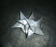 My trademark weapon: The Duct Tape Ninja Star. These shuriken are fast, simple and inexpensive to assemble, making stockpiling for your next mission a breeze. They work similarly to paper . Ninja Birthday Parties, Ninja Party, Ninja Turtle Party, Ninja Turtles, Lego Birthday, Lego Parties, Duct Tape Projects, Duck Tape Crafts, Crafts For Boys