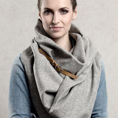 Schlauchschal für kältere Tage / pretty grey scarf by CADO accessories via DaWanda.com