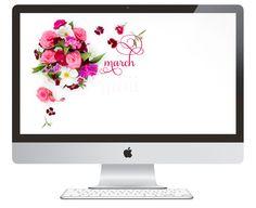 Free Desktop Calendar: March | Design by Ashlee Proffitt | Photography by Shay Cochrane