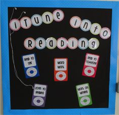 FREE iTune into Reading bulletin board set