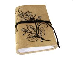 Handmade mild beige color a soft genuine leather by ArtsBooks, $34.99