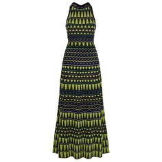M Missoni Lurex Halter Maxi Dress ($925) ❤ liked on Polyvore featuring dresses, special occasion dresses, halter top, green halter dress, halter top maxi dress and evening maxi dresses