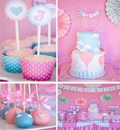 Hot Air Balloon Baby Shower With Super Cute Ideas via Karas Party Ideas | KarasPartyIdeas.com #vintage #hot #air #balloon #baby #shower #cute #ideas #supplies