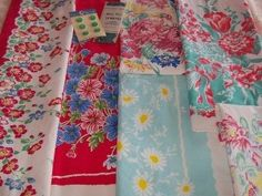 Vintage 1950's floral tablecloths
