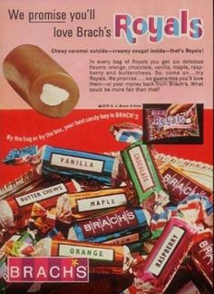1970 print ad for Brach's Royals candy