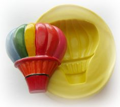 Hot Air Balloon Silicone Mold Resin Clay PMC Fondant Moulds