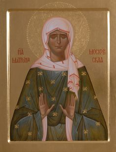 Icon of St Matrona of Moscow - Hand-Painted Icon from the Workshop of St…