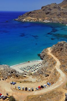 Ammoudaki beach, Plakias (Rethymno) in Crete, Greece Crete Island, Greece Islands, Heraklion, Rethymno Crete, Beautiful Islands, Beautiful Places, Santorini, Mykonos Greece, Athens Greece