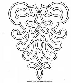 Ladies Of The 1860s This could be done as machine or hand couching - create a long cuff on a black blouse or jacket and do in gold thread. Inspiration for Soutache, Passementerie embellishments
