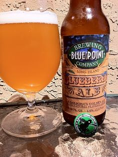 Blue Point Blueberry Ale. Pair it with Boar's Head Horseradish pickles... weird, but delicious.