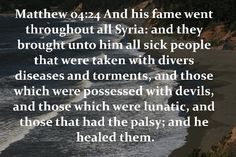 He healed them