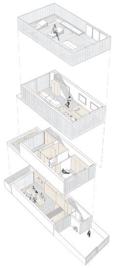 Slip House by Carl Turner Architects  (axon drawing example)