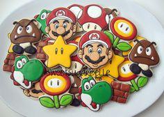 Super Mario Brothers cookies sweet sugar belle