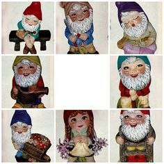 Baby Garden Gnome Collection - Unpainted Ceramics Bisque Figurines