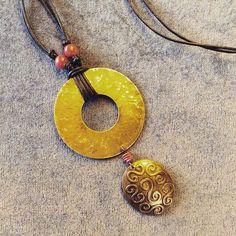 #pendant #brass #handcraftedjewelry #statementnecklace
