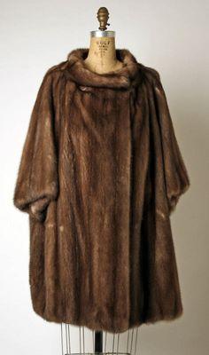 1960's Fur Coat. House of Dior. Yves Saint Laurent.