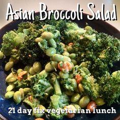 Asian Broccoli Salad 21 day fix vegetarian lunch idea