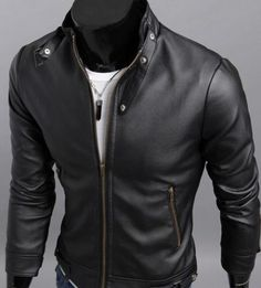 2013 New Mens fashion leather clothing Motorcycle Jacket short coat