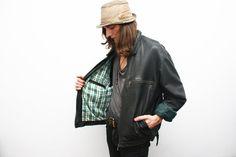 Vintage Distressed Mens Black Leather Jacket by ThePenduline, €55.00