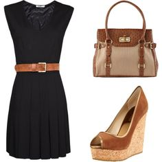 Class act here with LBD (little black dress). Office in day; glitz it up with accessories for night.