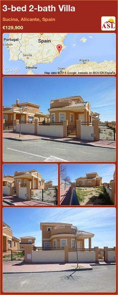 3-bed 2-bath Villa in Sucina, Alicante, Spain ►€129,900 #PropertyForSaleInSpain