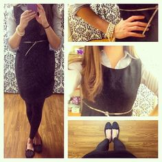 #OOTD | Loving the for of this #thrifted #dress!  @pluckypicaroon @thedressdare #thedressdare…